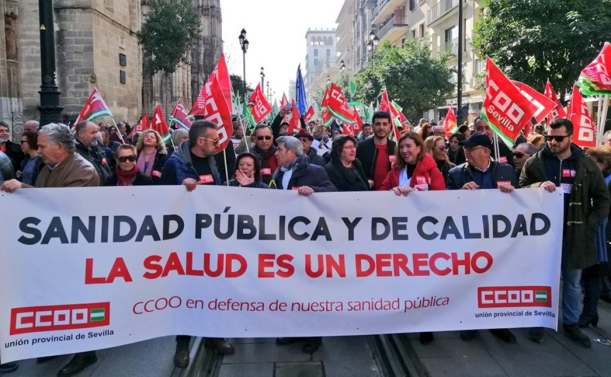 Manifestaciones en Andalucía en defensa de la sanidad pública
