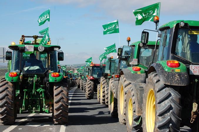 Este martes nuevas protestas de los agricultores andaluces