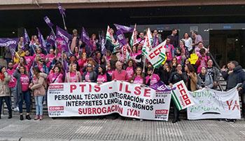 Los intérpretes de lengua de signos de Andalucía en huelga porque ven peligrar el mantenimiento de sus empleos