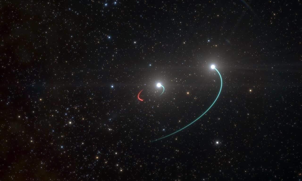 Un sistema estelar y con agujero negro que se ve a simple vista