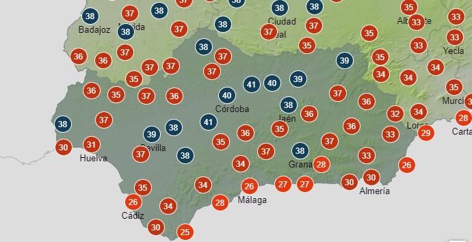 Vuelve la ola de calor a Andalucía con alerta naranja y variaciones en todas las provincias
