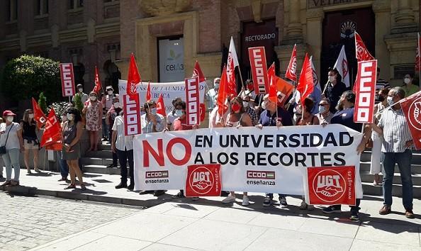 Los sindicatos anuncian más movilizaciones contra el recorte de la Junta a las universidades de Andalucía