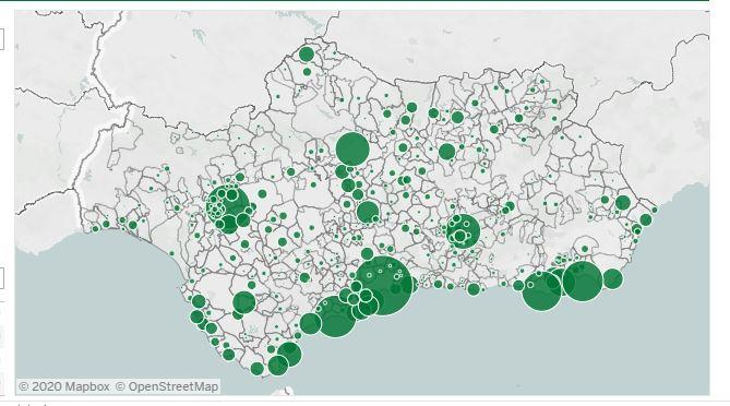 Mapa del coronavirus en Andalucía en 24 horas: 1.030 positivos, 105 ingresos de los que 9 en UCI y 7 fallecidos