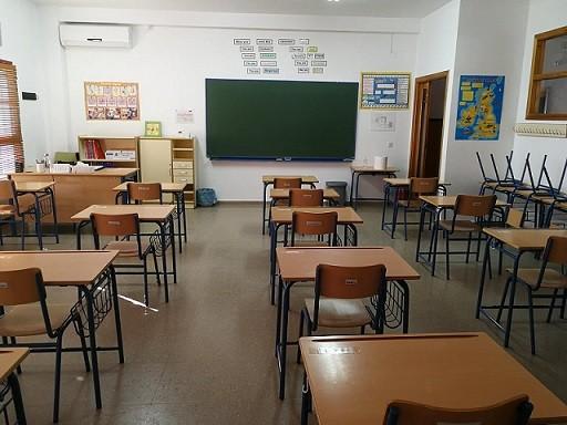 Aula vacía colegio