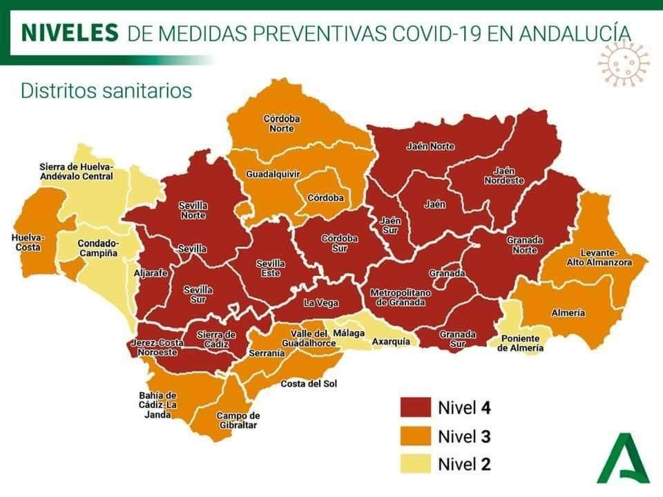 Medidas Andalucía Provincias