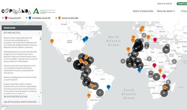 ¿A qué países de todo el mundo se destina la cooperación al desarrollo de Andalucía?