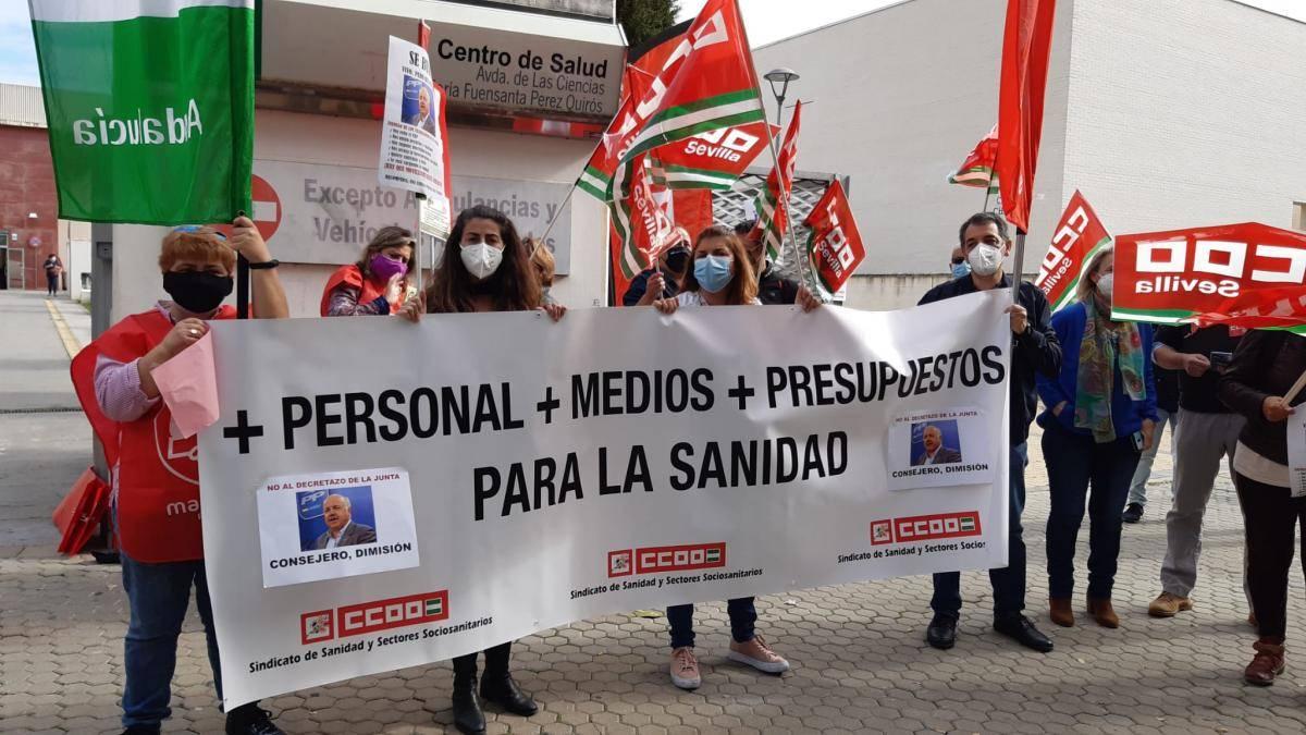 Los sindicatos, en pie de guerra contra la Junta: anuncian movilizaciones el día 15 de abril en las puertas de los centros sanitarios de Andalucía