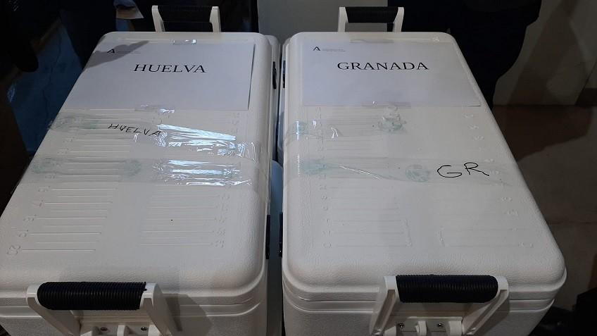 Transporte vacuna covid Andalucía