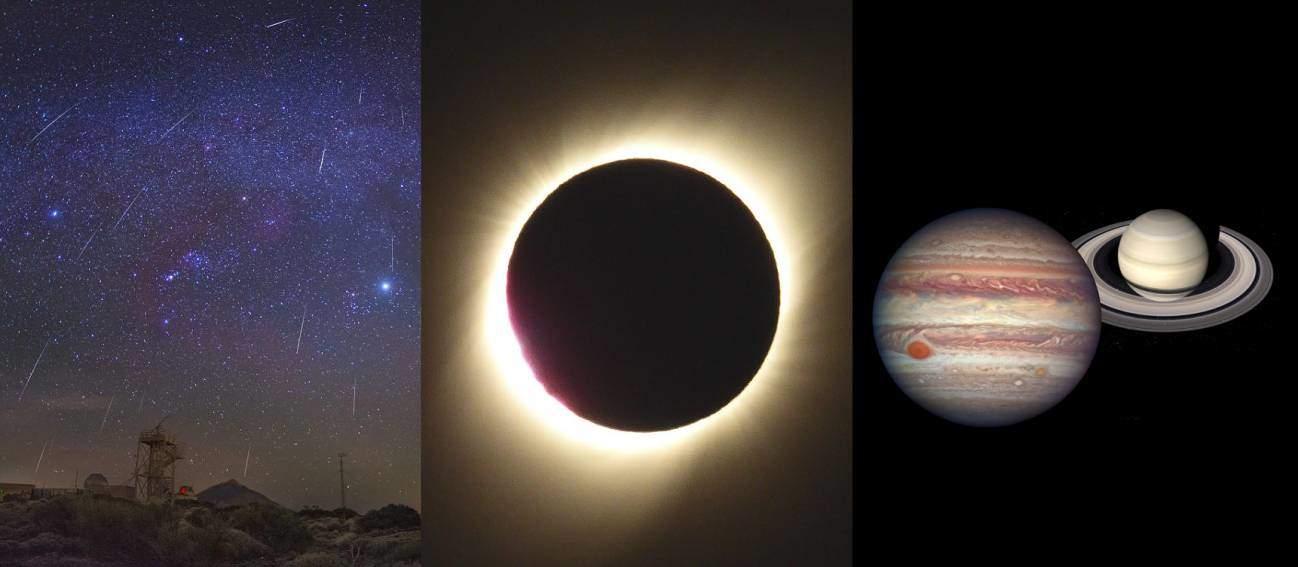 Un diciembre con gemínidas, eclipse solar y superconjunción de planetas