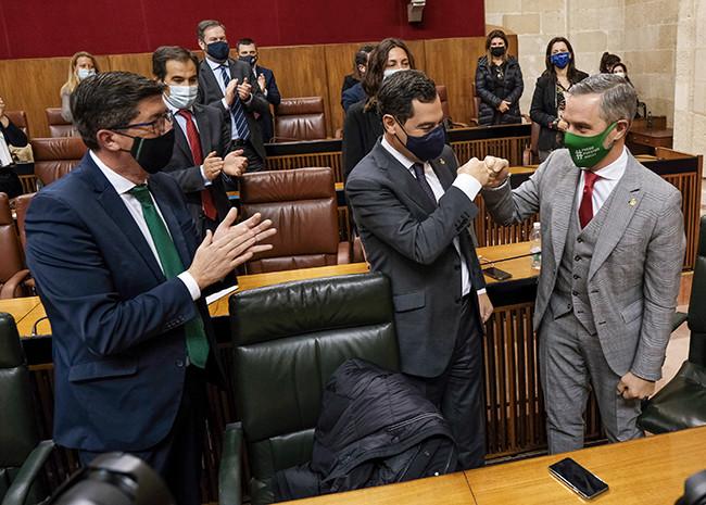 Aprobados los Presupuesto de Andalucía