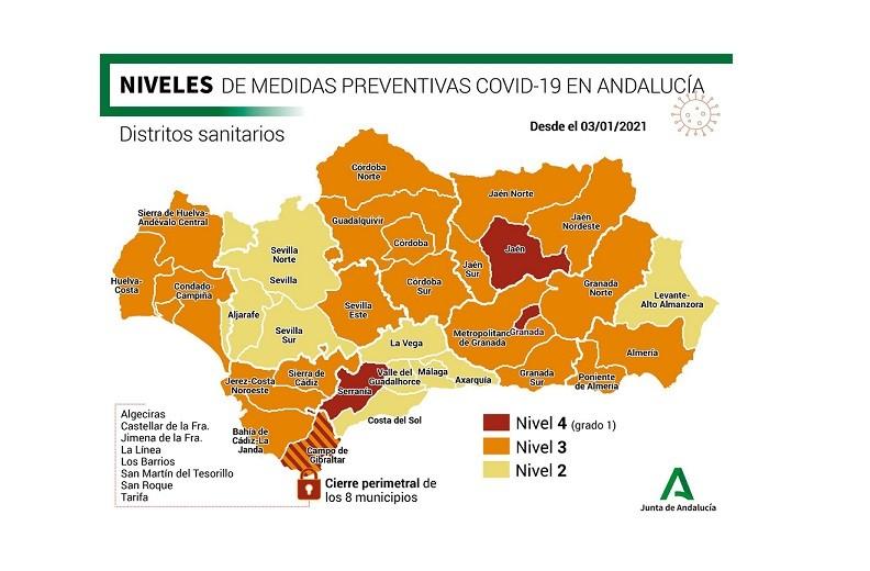 Andalucía duplica el número de contagios por coronavirus 10 días después de navidad y se disparan hasta los 2.220 positivos en 24 horas