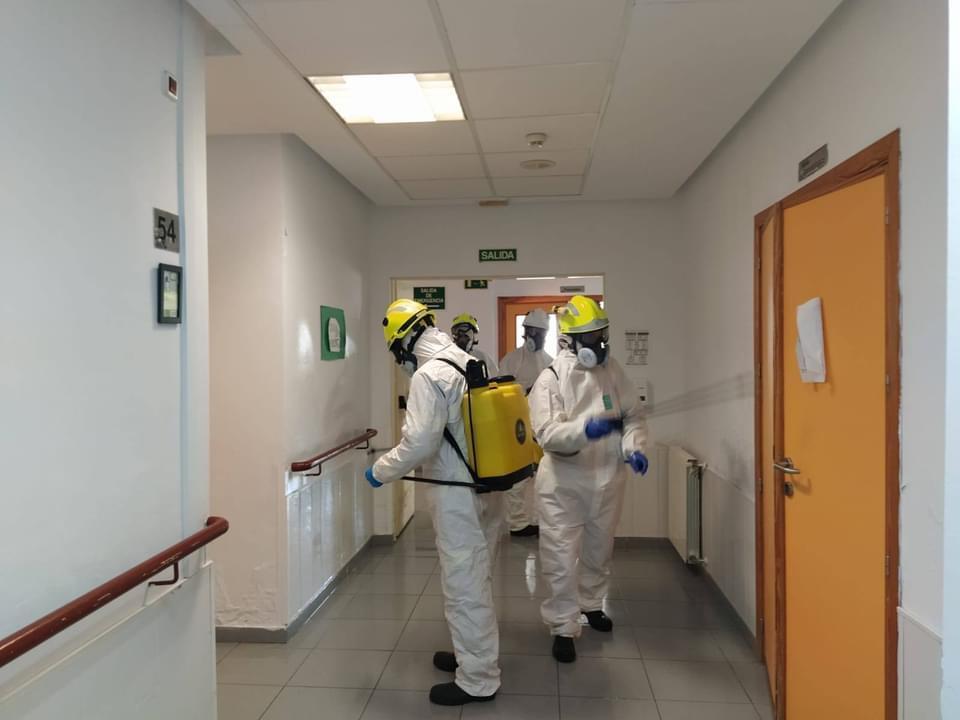 Desinfección coronavirus residencia