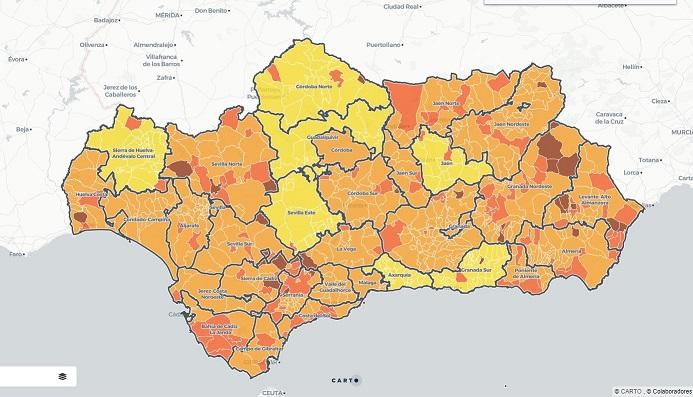 Mapa Coronavirus en Andalucía