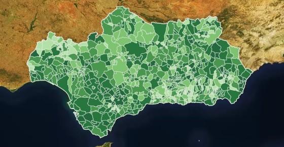 Mapa de coronavirus en Andalucía 120221