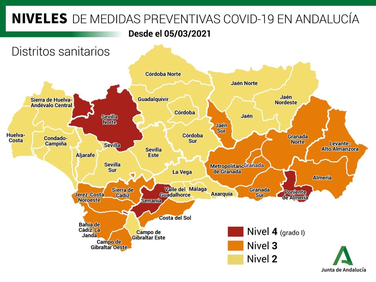 La cepa británica del coronavirus ya es predominante en todas las provincias de Andalucía y no se descarta una cuarta ola