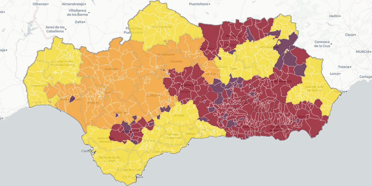 Estos son los 104 municipios en Andalucía con restricciones perimetrales y cierre de lo no esencial: Esta es la lista por provincias