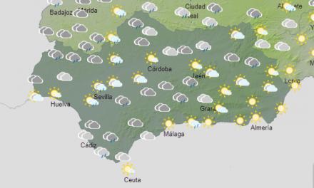 El tiempo en Andalucía: Lluvias ocasionales durante todo el día y bajan algo las temperaturas