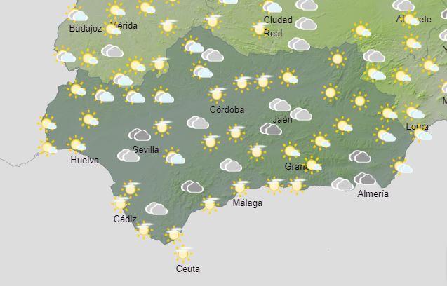 El tiempo en Andalucía: Este viernes algunas nubes esporádicas y lluvias ocasionales con temperaturas suaves
