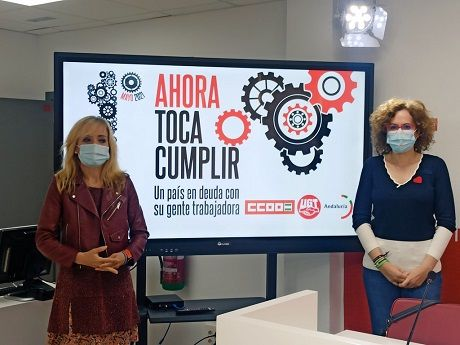 """Los sindicatos calientan motores en Andalucía: """"Ahora toca cumplir con la clase trabajadora»"""