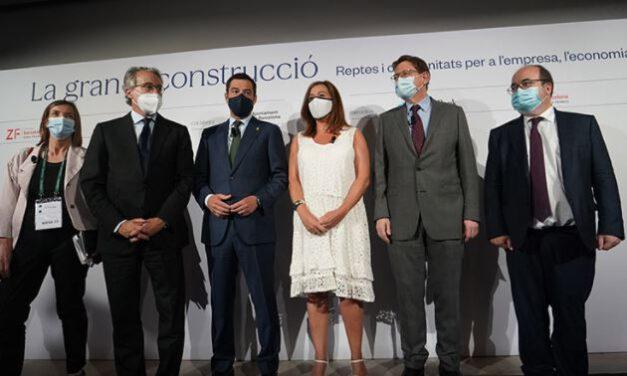 Moreno dice en Cataluña que Andalucía pierde cada mes que pasa 1.000 millones de euros «por un modelo de financiación obsoleto»