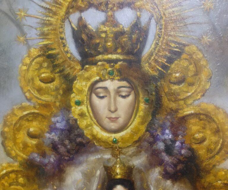 Nueva vida para la pintura de la Virgen del Rocío de la Hermandad del Rocío de Sevilla