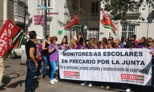Los monitores escolares de Andalucía piden a Educación «que acabe con la precariedad que sufrimos desde hace 15 años»