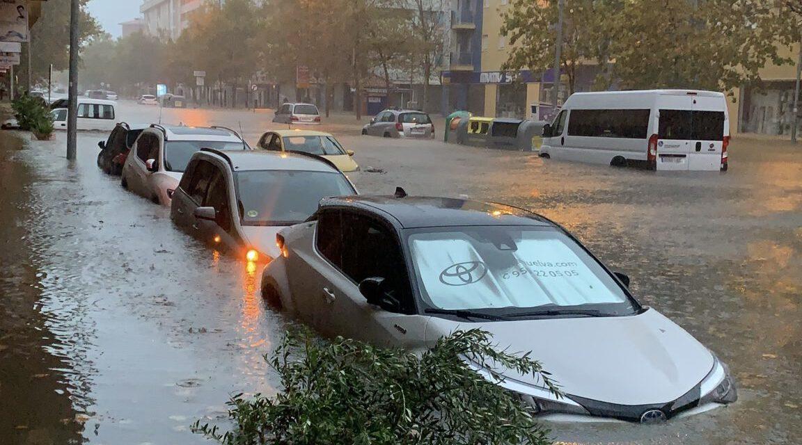 La DANA deja tormentas torrenciales en Huelva y viaja hacia el centro de Andalucía