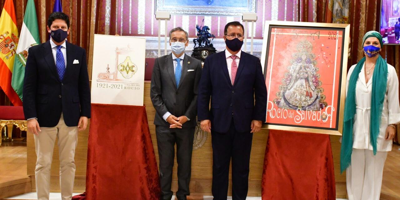 La Hermandad del Rocío de Sevilla presenta el cartel, el logo y el programa de actos con motivo del centenario de la talla de la Virgen del Rocío del Salvador