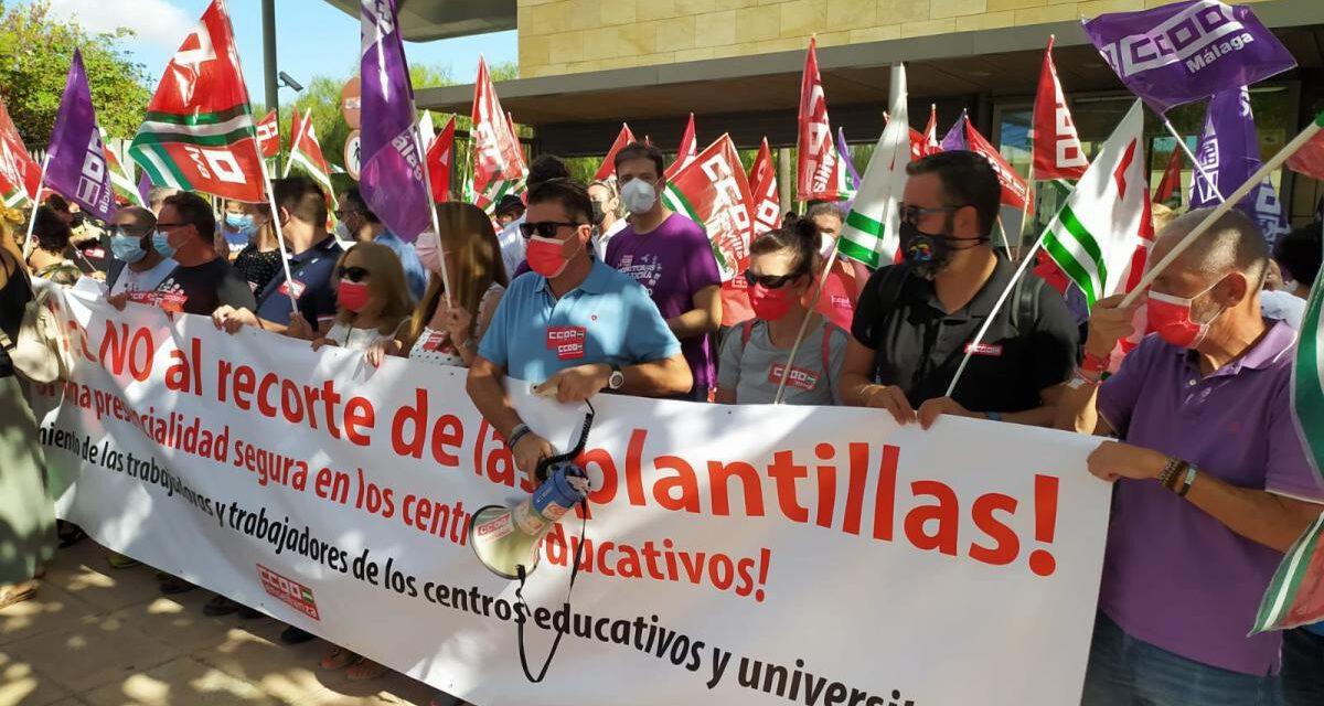 """Comienzan las clases en Andalucía y primeras movilizaciones """"ante los recortes para el nuevo curso escolar, que suponen un recorte del 40% del personal docente"""""""